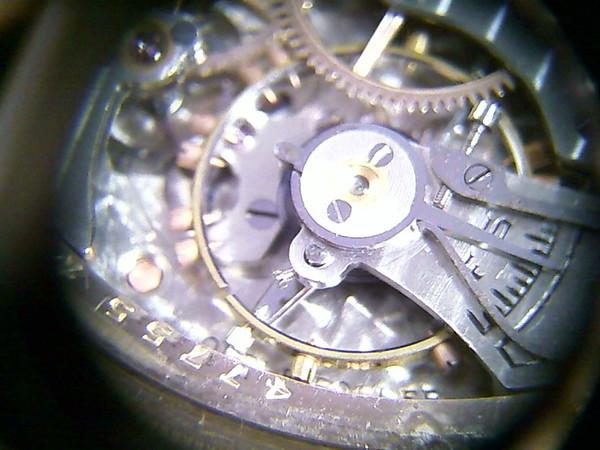 Figure 7 – Watch balance wheel shot with a webcam under moderate lighting