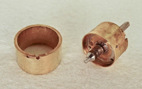Figure 4 – Donut removed from original drum.  Fortunately the original drum was in reasonable condition.