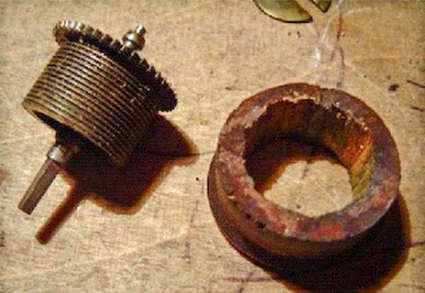 Figure 2 - A wooden donut that Scottie found in a German Vienna-Style Regulator