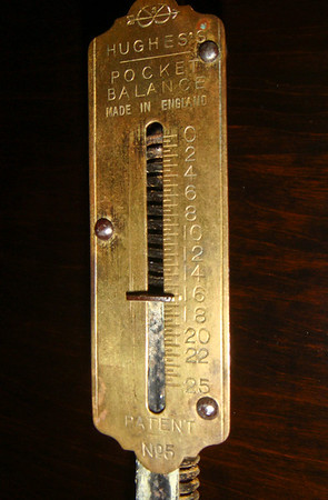 Figure 9 - The total weight avaiable to run the mechanism was 16.3 pounds.