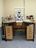 A watchmaker was kind enough to send in pictures of his set-up.  He has a boom microscope set up on his watchmakers bench - it is not often I get bench envy....