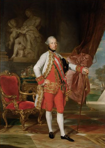 Joseph II (Joseph Benedikt Anton Michael Adam; 13 March 1741 – 20 February 1790) was Holy Roman Emperor from 1765 to 1790 and ruler of the Habsburg lands from 1780 to 1790. He was the eldest son of Empress Maria Theresa and her husband, Francis I. Joseph was a proponent of enlightened absolutism; however, his commitment to modernizing reforms subsequently engendered significant opposition, which eventually culminated in an ultimate failure to fully implement his programmes. He has been ranked, with Catherine II of Russia and Frederick II of Prussia, as one of the three great Enlightenment despots.<br /> <br /> I have included a picture of ranz Josef II because he is arguably the reason that Vienna was one of the finest, if not the finest clock making centers in the world.  His decision to bring in Swiss watch-makers to train Viennese clock-makers gave the Viennese the skills necessary to produce the long duration clocks for which they are famous!