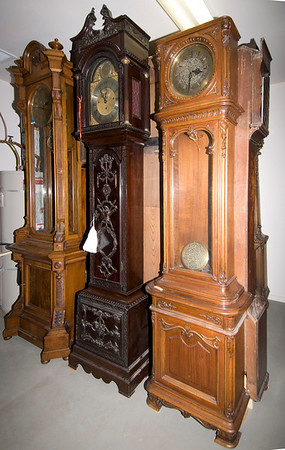 Two more Viennese pieces and a stunning British Hall Clock with an 8-bell movement.
