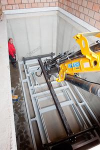 Installation carlift,installatie autolift,installation d'élévateur de voiture