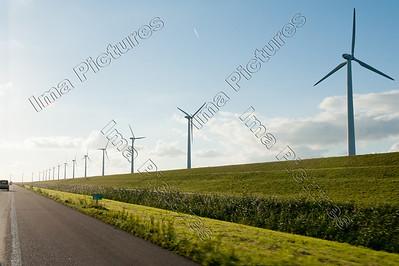 windmills,windmolens,moulins,Ijselmeer,The Netherlands,Nederland,Pays-Bas