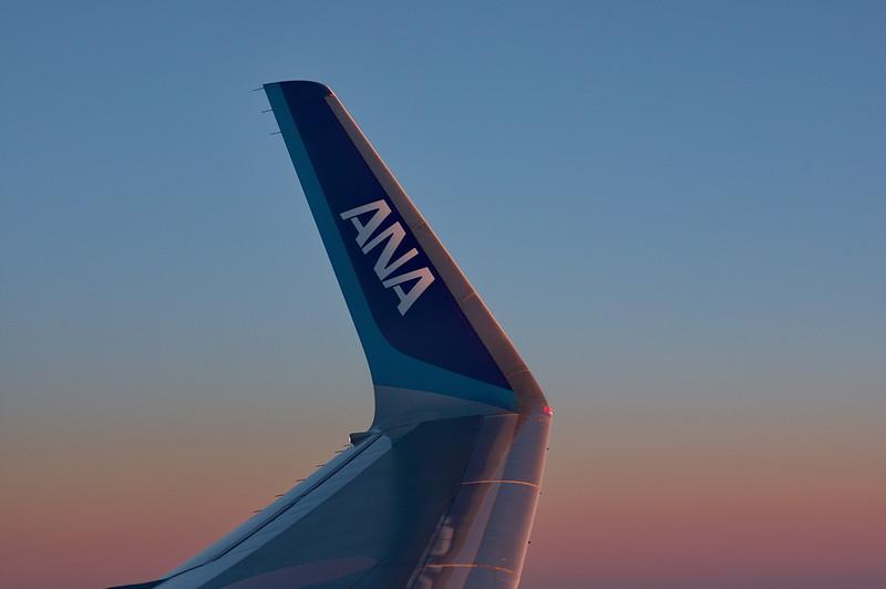 ANA Flug Tokyo-Shanghai