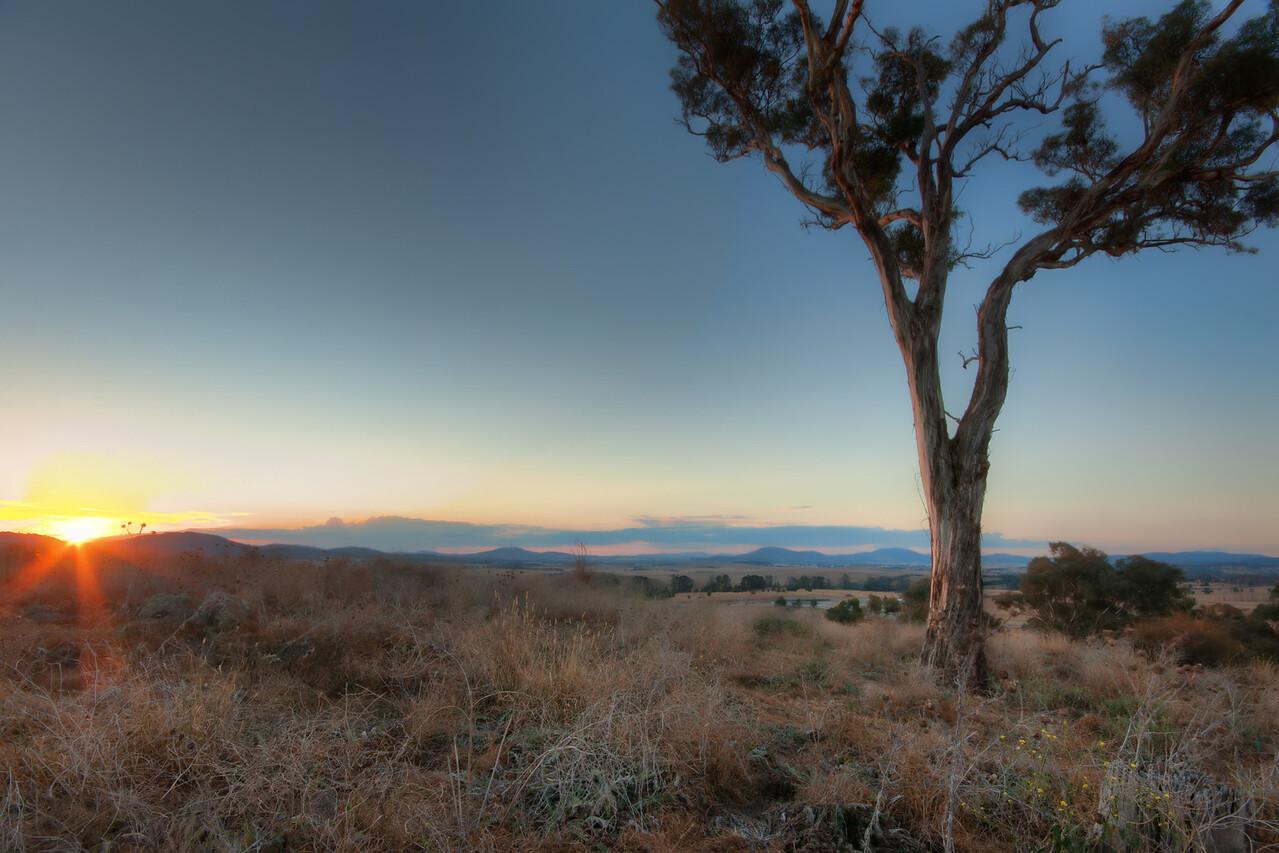Winter 2011. Overlooking Canberra, Australia