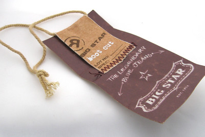 stamped   hang tags