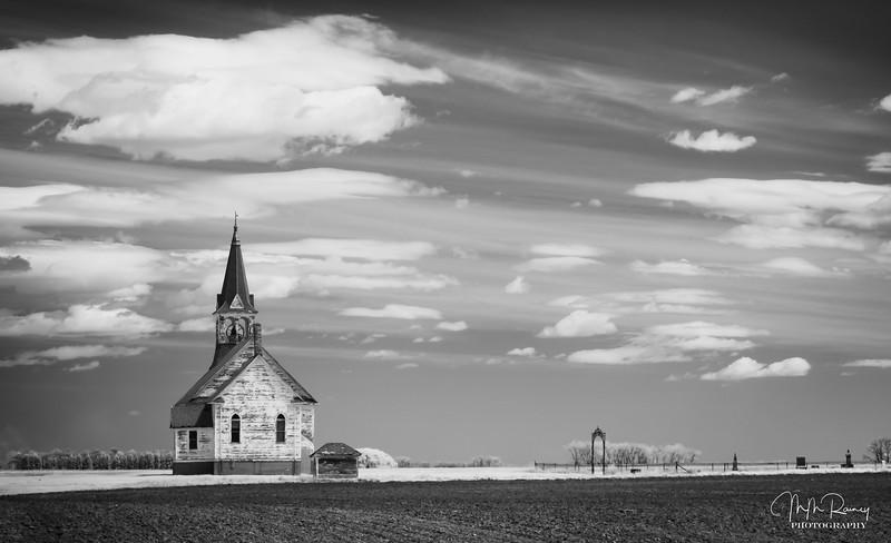 Church and graveyard, Bethel, North Dakota