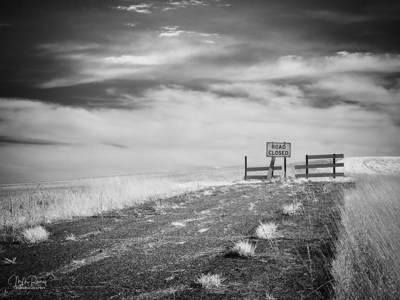 Road closed.