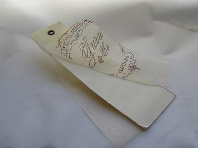 organza printed hang tag