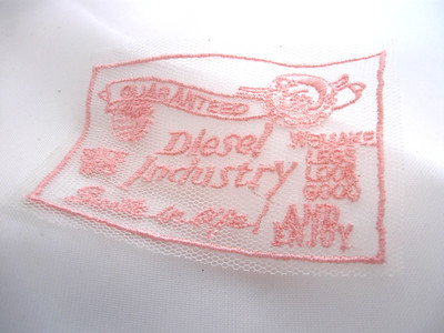 mesh fabric with embroidery