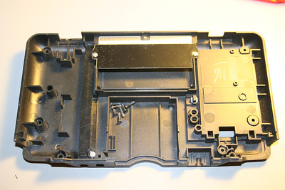 Inside the bottom of the case
