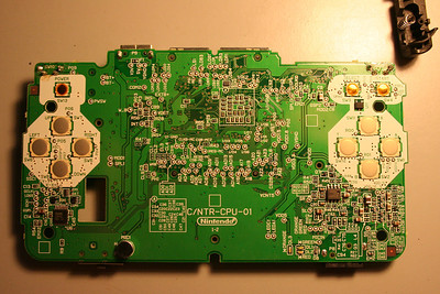 Top of the circuit board