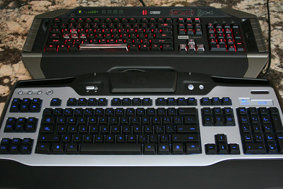 Keyboard Light Comparison - Background light On