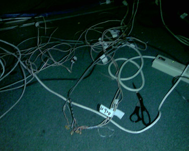 Rats Nest of Phone Cables