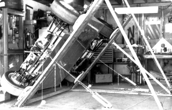 John McCann's ME-4 on his patented static skid pad.