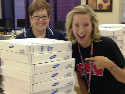 Chromebooks for middle school math classes delivered