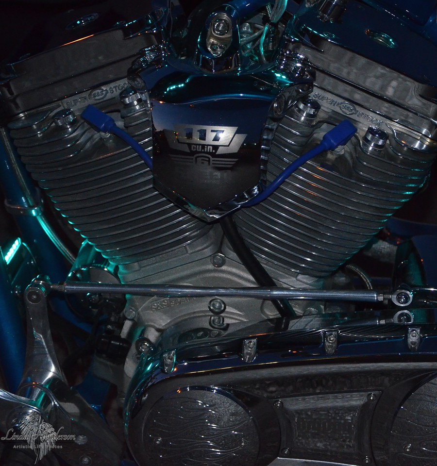 Blue Motorcycle 2