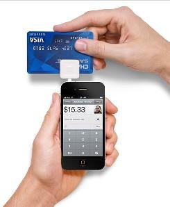 """This is a typical Swipe using SQUARE's credit card reader, plugged into Apple's iPhone4, swipe at a rate of 12"""" per second swipe rate to minimize swipe errors in reading the CC."""