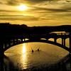 Sunset Kayaking Under the Lamar Bridge