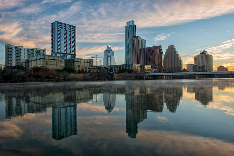 Winter Sunrise on Lady Bird Lake