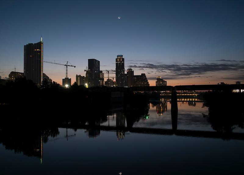 Waning Moon Over Austin