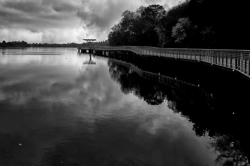 lady bird lake, butler boardwalk, cold front