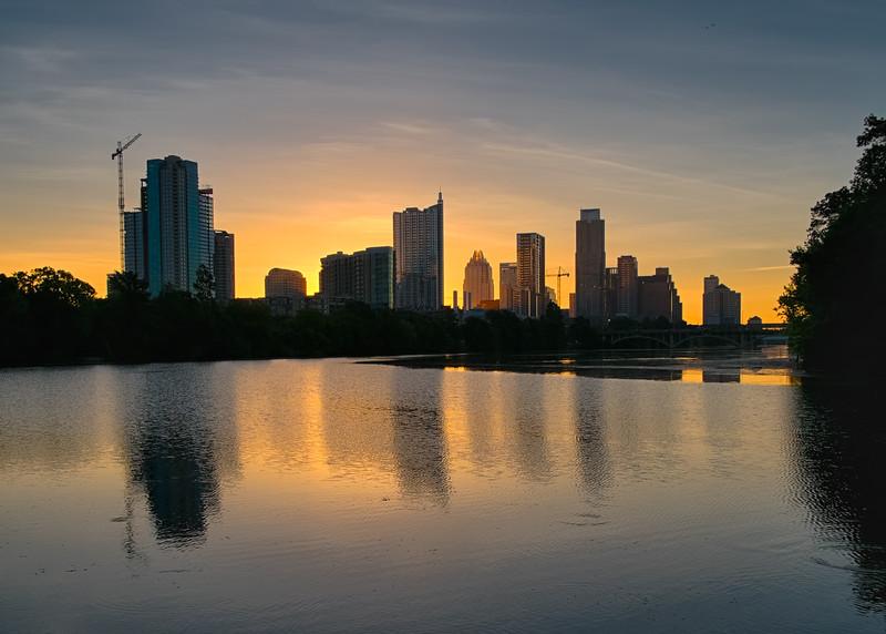 Austin Skyline from Lou Neff Point in Zilker Park