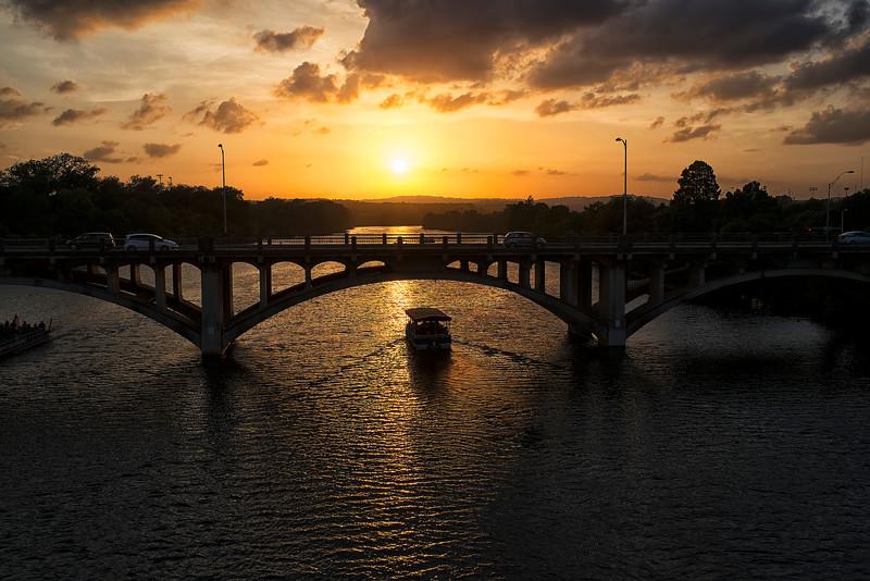 Boating Under the Bridge