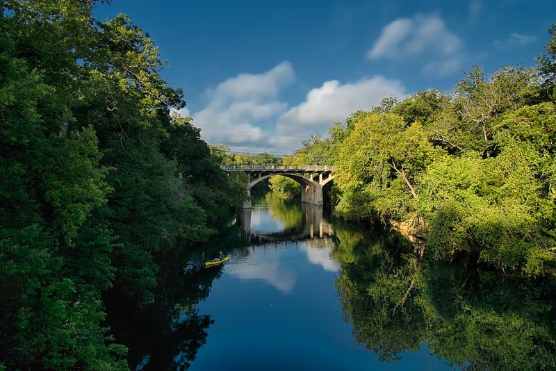 Barton Creek and the WPA Bridge