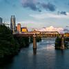 Amrak Crossing the Austin Graffiti Bridge