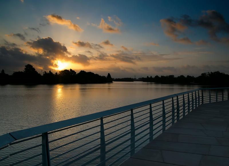 Dawn's Early Light from the Lady Bird Lake Boardwalk Trail