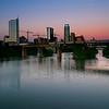 Sunset over the Austin Graffiti Bridge