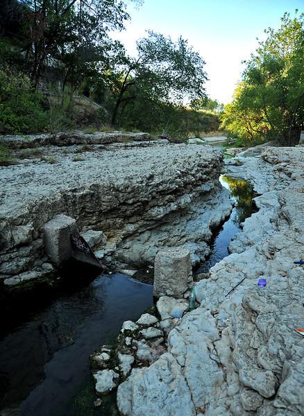 """Gorge"" below waterfall on Shoal Creek south of W 3rd"