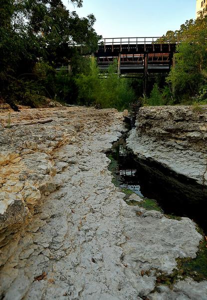 "Shoal Creek ""gorge"" looking north toward 3rd"