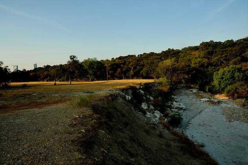 Shoal Creek in Pease Park looking south