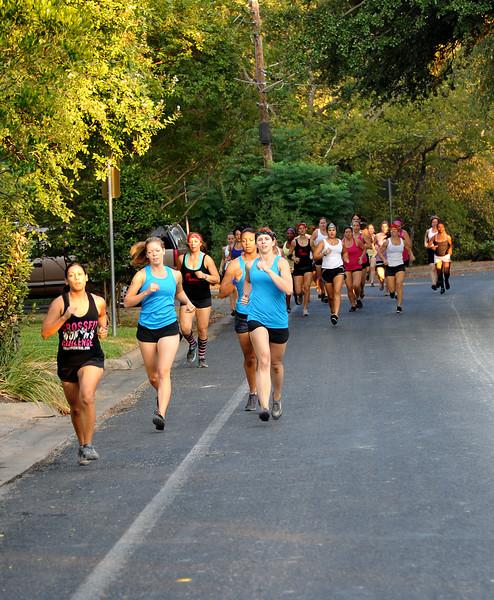 Joggers along W 31st
