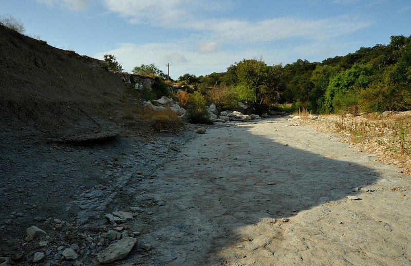 Exposed Del Rio clay in Shoal Creek (across from MLK)