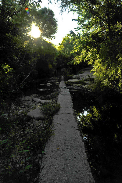 Concrete waste water line in Shoal Creek