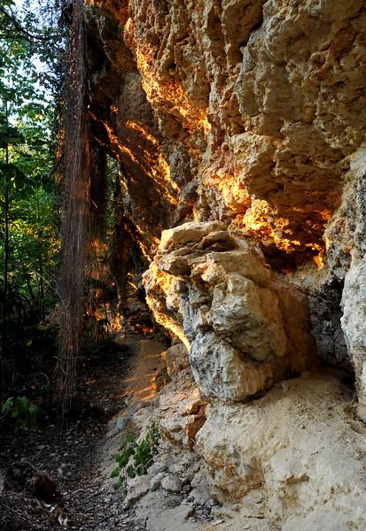 Limestone bluffs near W 29th