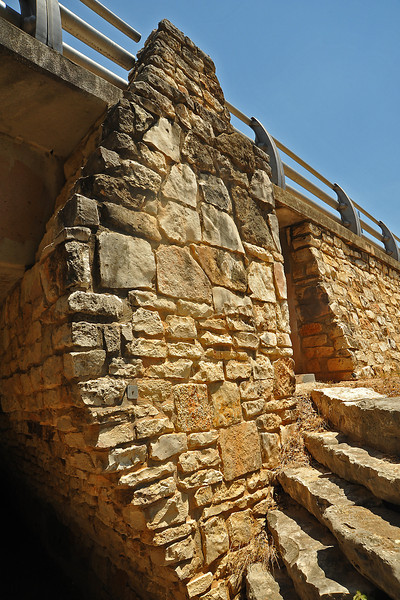 9th Street bridge stone work