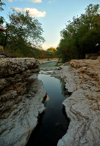 "Shoal Creek ""gorge"" looking south toward Lady Bird Lake"
