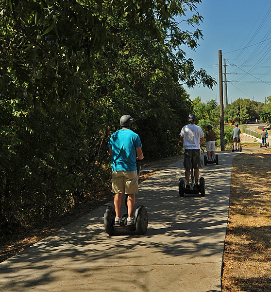 Segways on Lance Armstrong  Bikeway