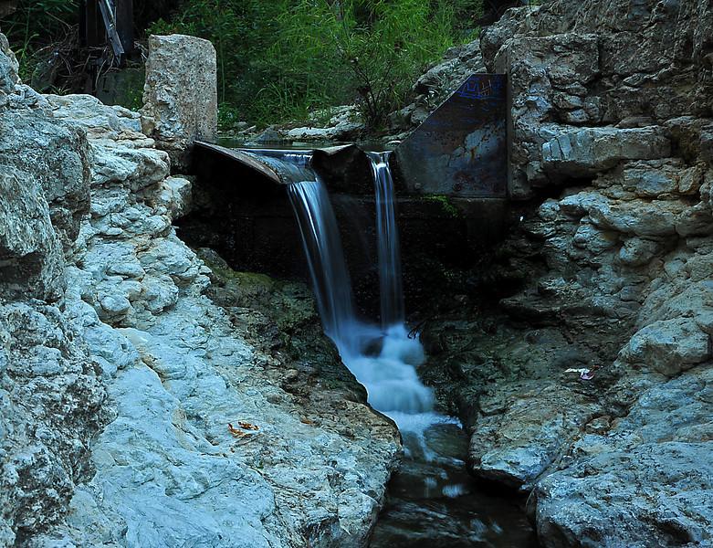 Waterfalls below W rd pedestrian bridge
