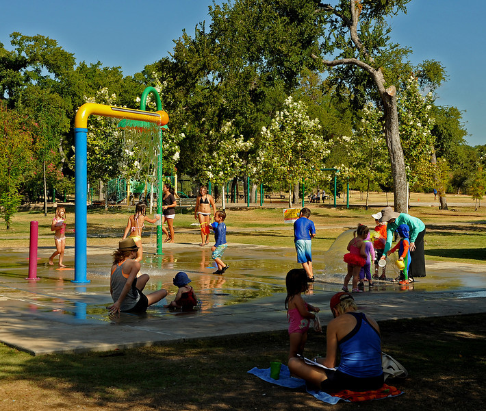 Pease Park splash pad