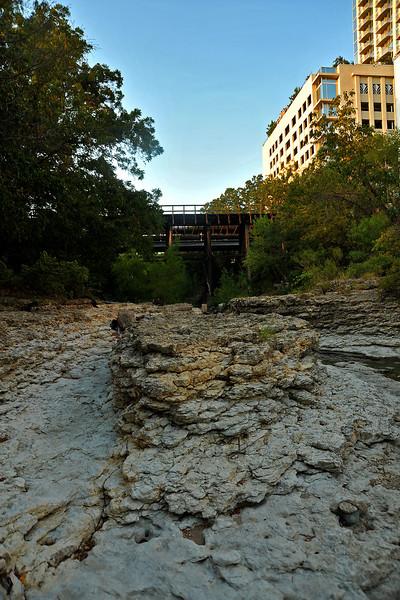 Shoal Creek creek bed south of 3rd