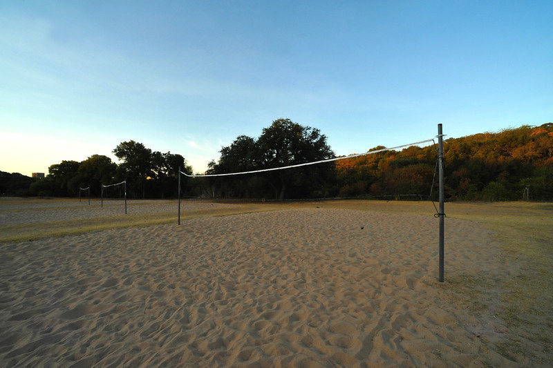 Pease Park volleyball pits