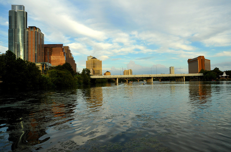 Lady Bird Lake from mouth of Shoal Creek