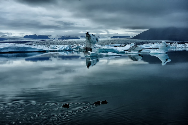 Jokulsarlon glacial lagoon, Iceland,